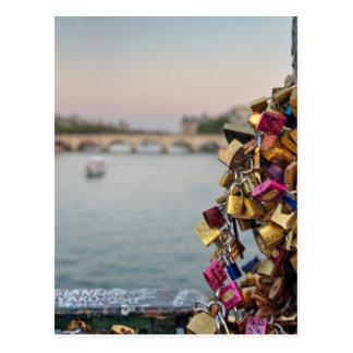 Lovely Evening Sky in Paris Postcard