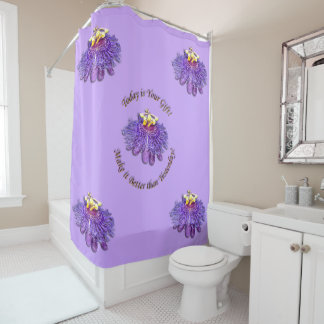 Lovely Exotic Purple Passion Flower Shower Curtain