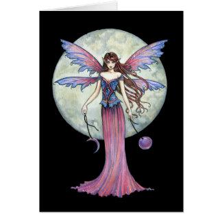 Lovely Fairy Greeting Card Celestial Full Moon