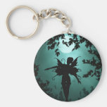 Lovely Fairy Siluetts Basic Round Button Key Ring