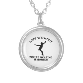Lovely Figure Skating DESIGNS Silver Plated Necklace