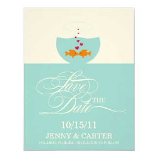 Lovely Fish Wedding Save The Date Announcement Custom Invitation