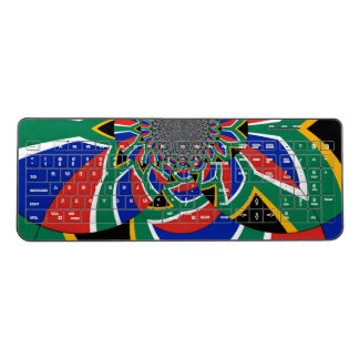 lovely Flora Colorful abstract tile pattern design Wireless Keyboard