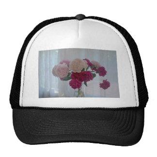 LOVELY FLORAL MESH HAT