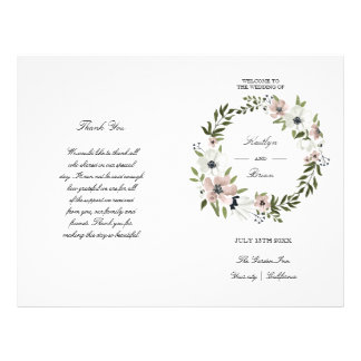 Lovely Floral - wedding program 21.5 Cm X 28 Cm Flyer