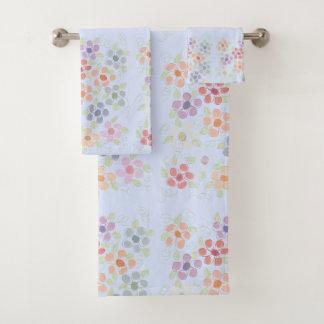 Lovely Flowered Towel Set
