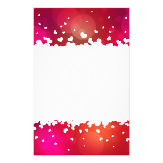 Lovely Flying Hearts Border Stationery Letterhead