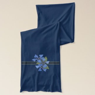 Lovely Forget me not Wildflowers Scarf