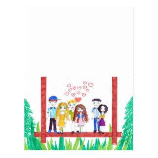 lovely friends postcard