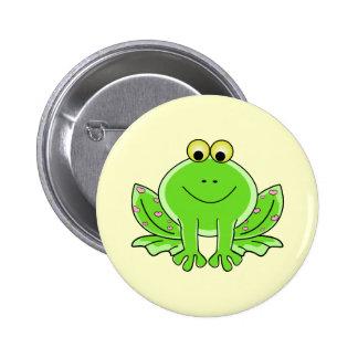 Lovely Frog 6 Cm Round Badge