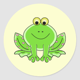 Lovely Frog Classic Round Sticker