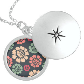 Lovely Fun Pattern Brilliant Round Locket Necklace