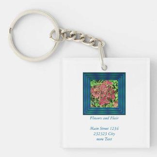 lovely Garden pics 05 Single-Sided Square Acrylic Key Ring