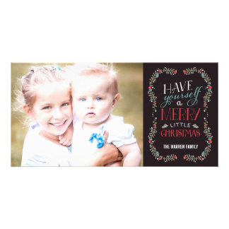 Lovely Garlands Holiday Photo Card - Brown