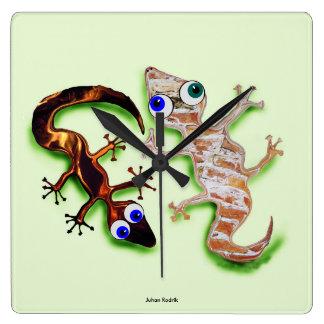 Lovely Gecko Wall Clocks