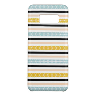 Lovely Geometric White Black Yellow Stripes Design Case-Mate Samsung Galaxy S8 Case