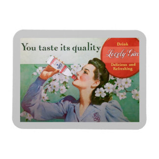 Lovely Gin Fridge Magnet