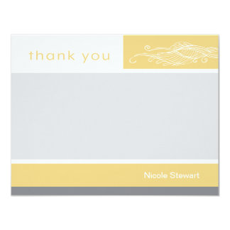 Lovely Girl Custom Thank You Note Card 11 Cm X 14 Cm Invitation Card