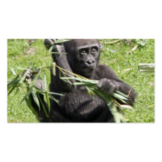 Lovely Gorilla Baby Business Card Template