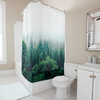 Lovely Green Forest Wild & Free Shower Curtain