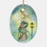 Lovely Green Mermaid by Molly Harrison Ornament