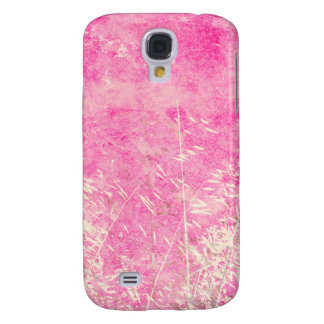 Lovely grungy pink and white floral design galaxy s4 cases
