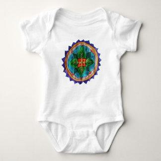 Lovely hand painted mandala Baby Jersey Bodysuit, Baby Bodysuit