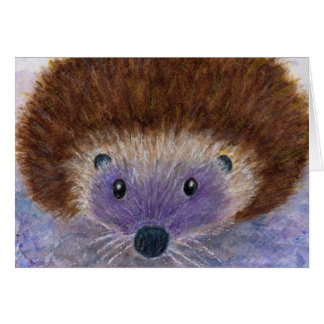 Lovely Hedgehog watercolour greetings art card