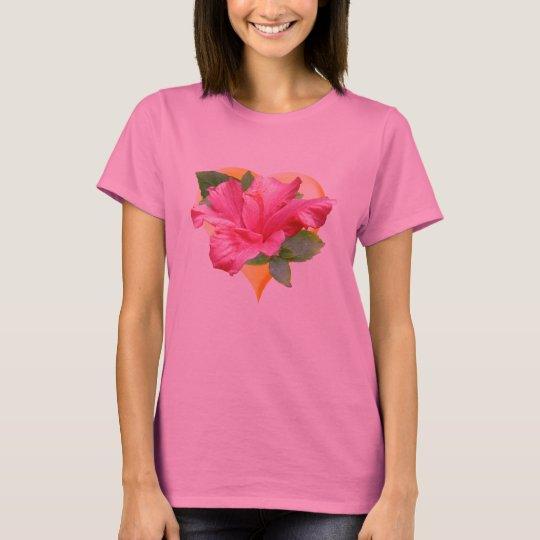 Lovely Hibiscus Heart T-shirt