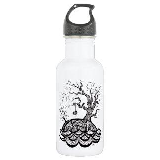 Lovely Hill Intricate Heart Tree illustration 532 Ml Water Bottle