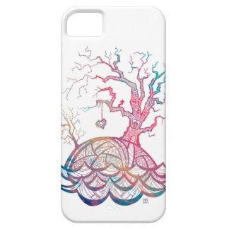 Lovely Hill Intricate Heart Tree illustration iPhone 5 Covers