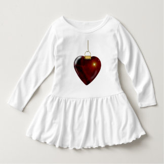 Lovely Holiday Ornament Red Heart Dress