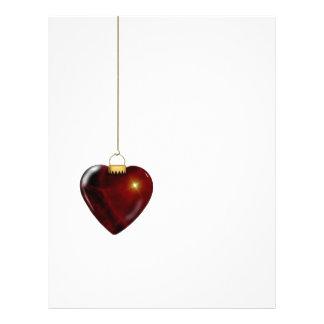 Lovely Holiday Ornament Red Heart Custom Flyer