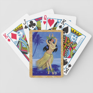 Lovely Hula Maiden Bicycle Playing Cards