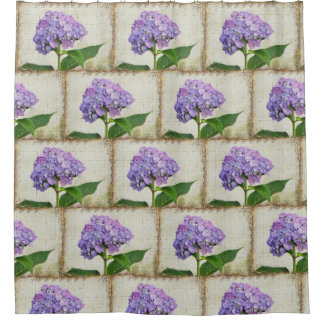 Lovely Hydrangea Blossoms Shower Curtain