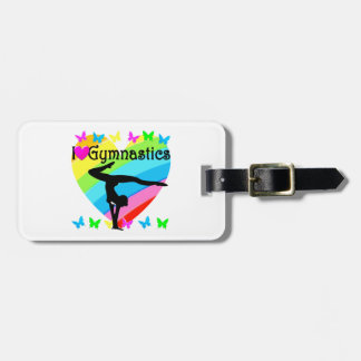 LOVELY I LOVE GYMNASTICS DESIGN LUGGAGE TAG