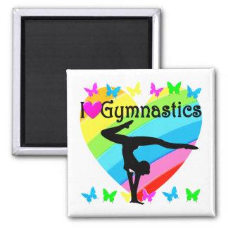 LOVELY I LOVE GYMNASTICS DESIGN MAGNET