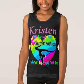 LOVELY I LOVE GYMNASTICS PERSONALIZED TANK TOP