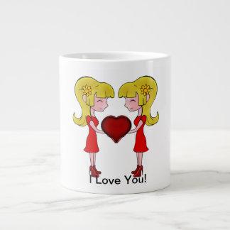 Lovely In Love Mug F+F Jumbo Mug