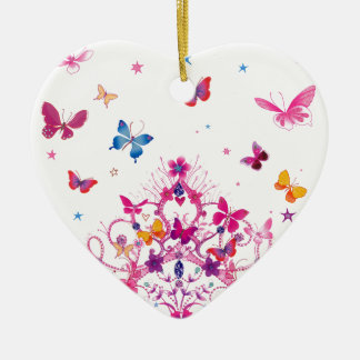 Lovely Infinity Butterfly Ceramic Heart Decoration