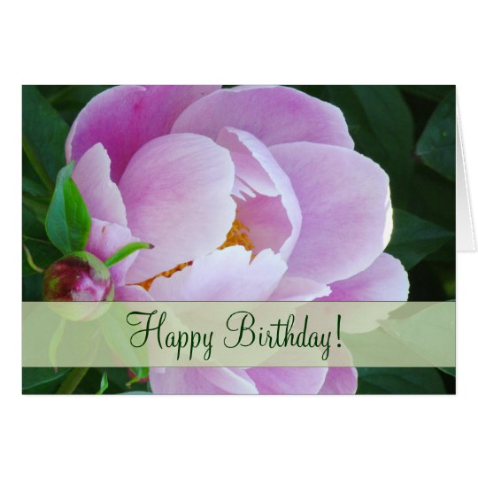 Lovely Japanese Peony  Birthday Greeting Card
