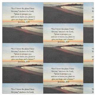 LOVELY JEREMIAH 29:11 SUNRISE PHOTO FABRIC