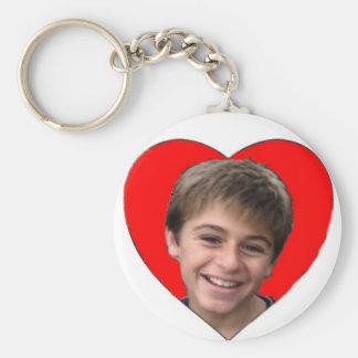 Lovely Jon Basic Round Button Key Ring