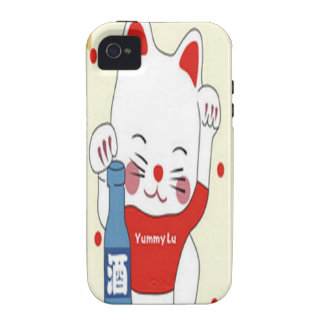 Lovely kitten in red design case for the iPhone 4