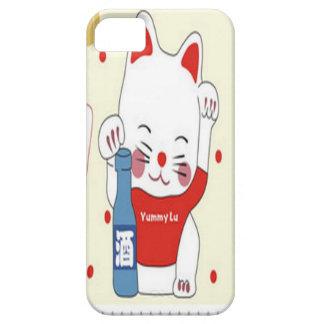 Lovely kitten in red design iPhone 5 case