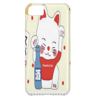Lovely kitten in red design case for iPhone 5C