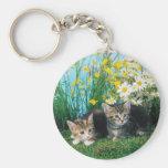 Lovely Kittens 63 Basic Round Button Key Ring