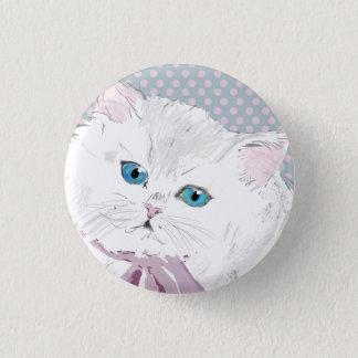 lovely kitty 3 cm round badge