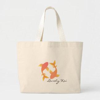 Lovely Koi Large Tote Bag