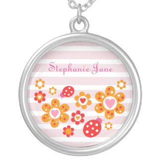 Lovely Ladybird Flowers Necklace